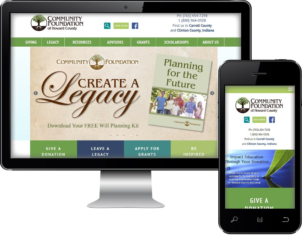 Community Foundation Web Site Design