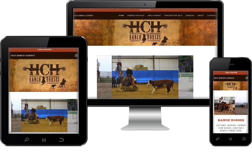 HCH Equestrian Web Site Design