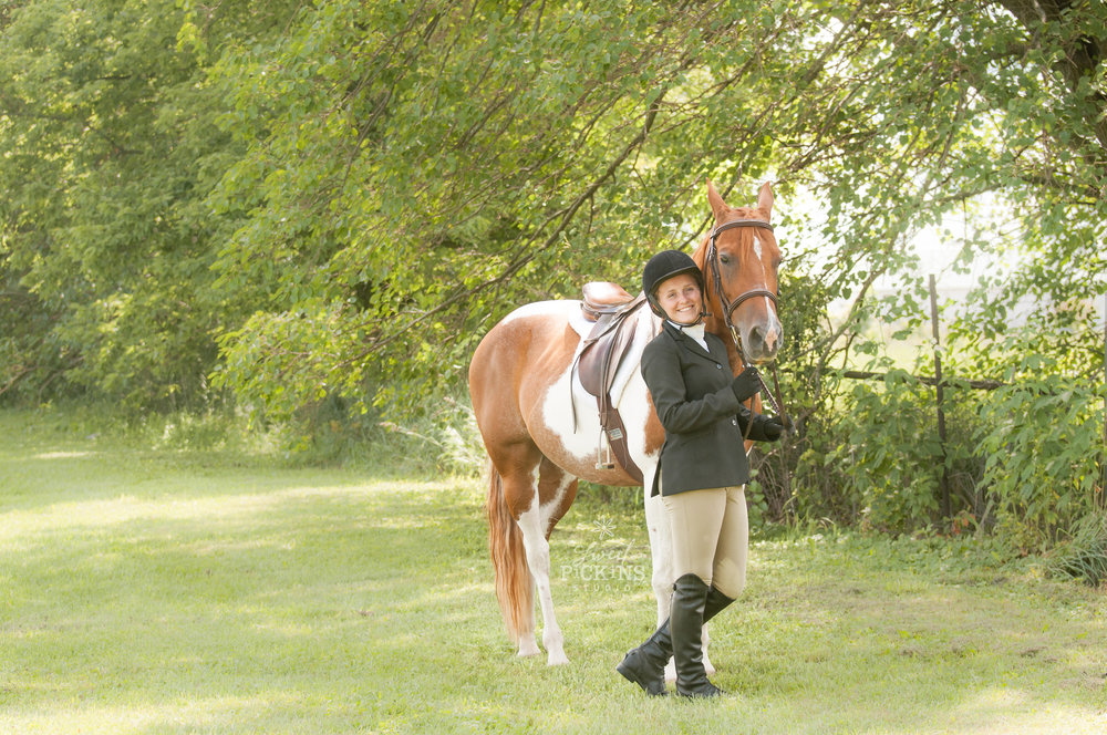 Landscape with English Equestrian Portrait | Sweet Pickins Studio
