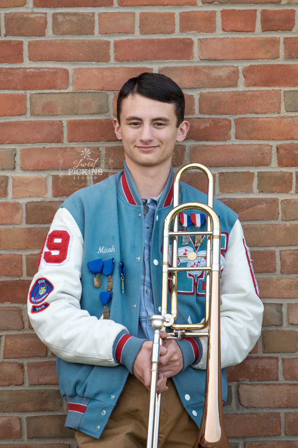 Musical Marching Band Portrait Photography by Sweet Pickins Studio, Peru, Indiana