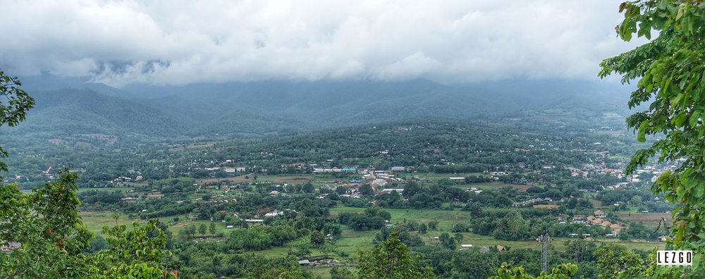 View from Wat Phra That Mae Yen (Temple on the hill),Pai, Thailand May 2017