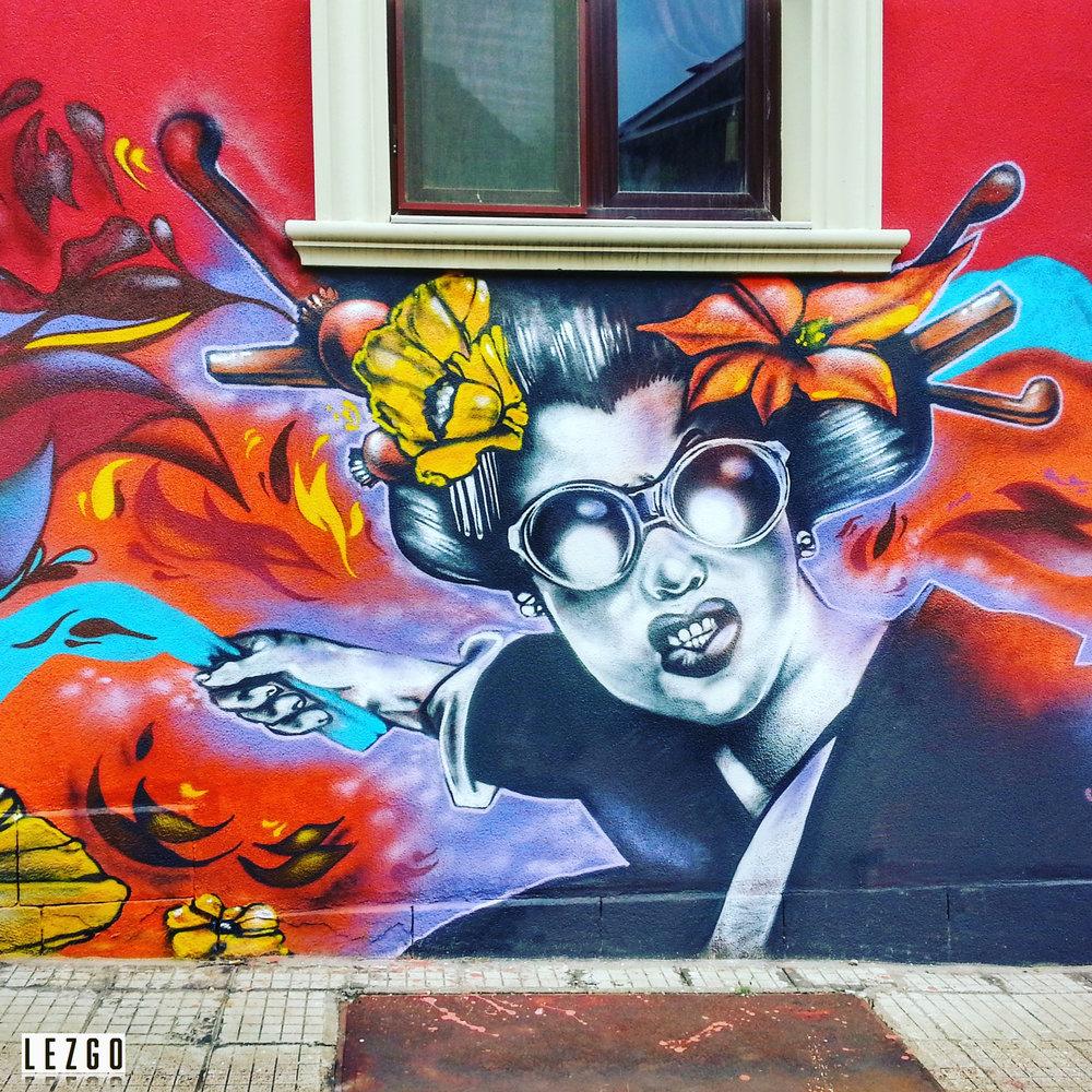 Stunning street art in Plovdiv, Bulgaria September 2015