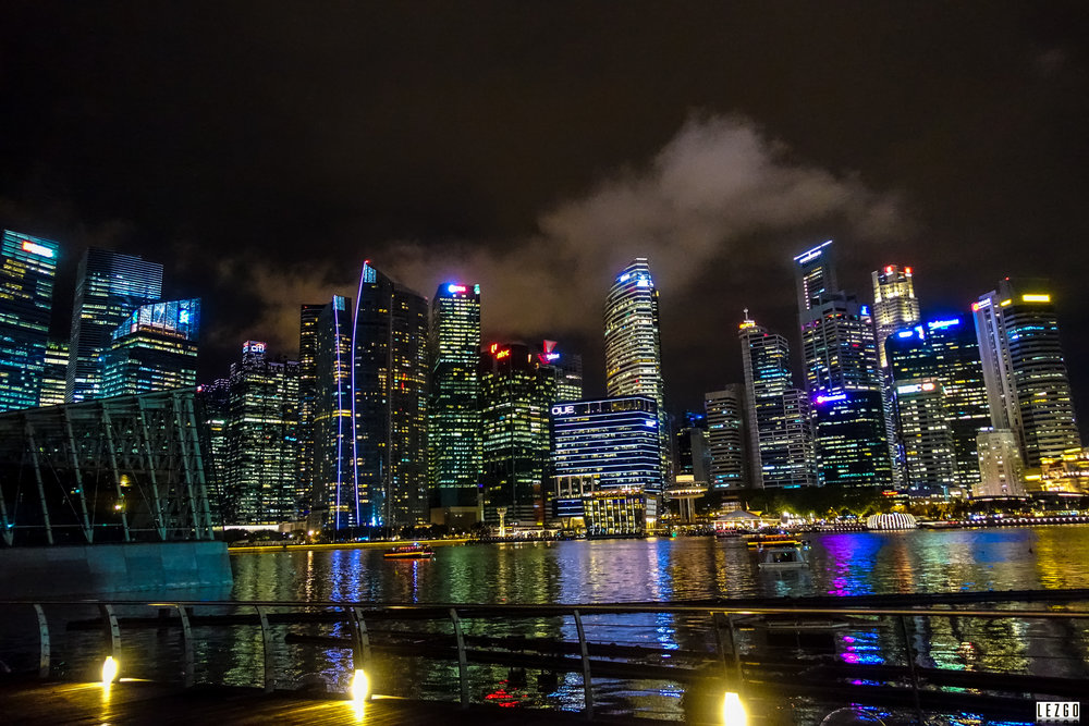 Singapore skyline from Marina Sands, Singapore June 2017