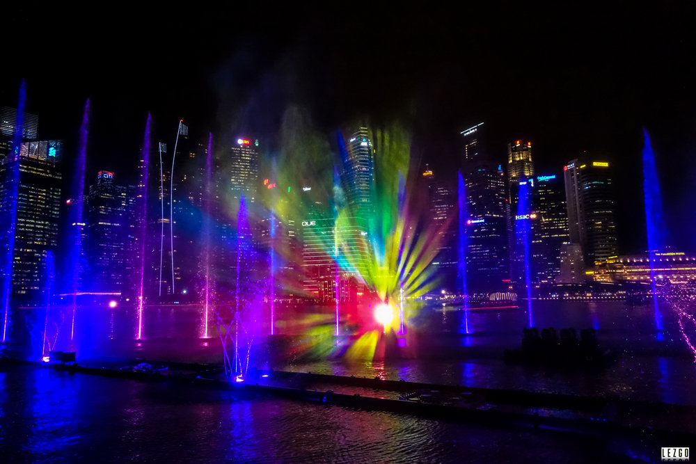 The Light Show at Marina Sands, Singapore June 2017