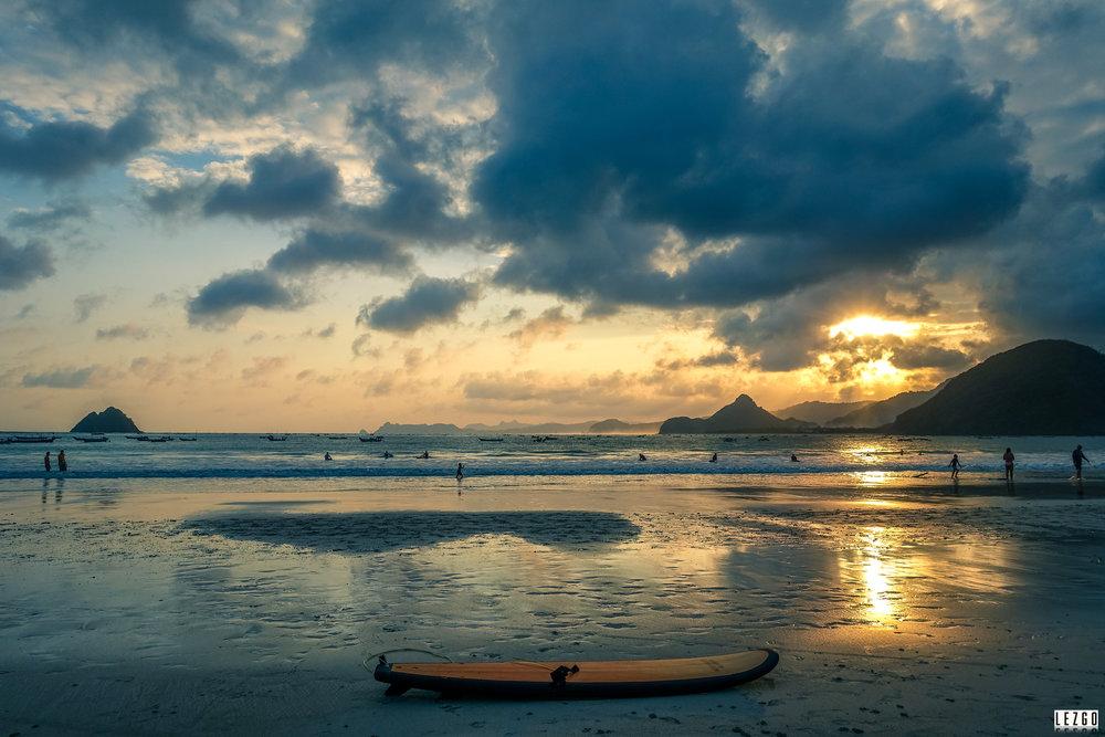 Sunset at Pantai Selong Blank beach, Lombok, Indonesia July 2017