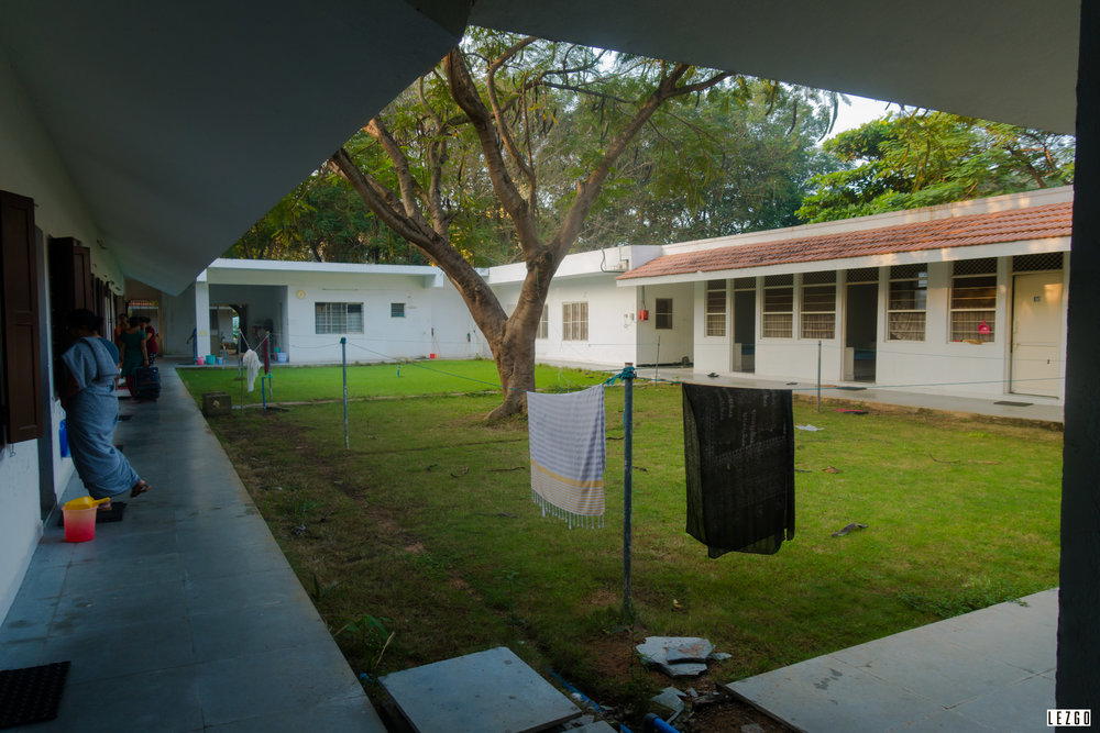 Courtyard of residential quarters