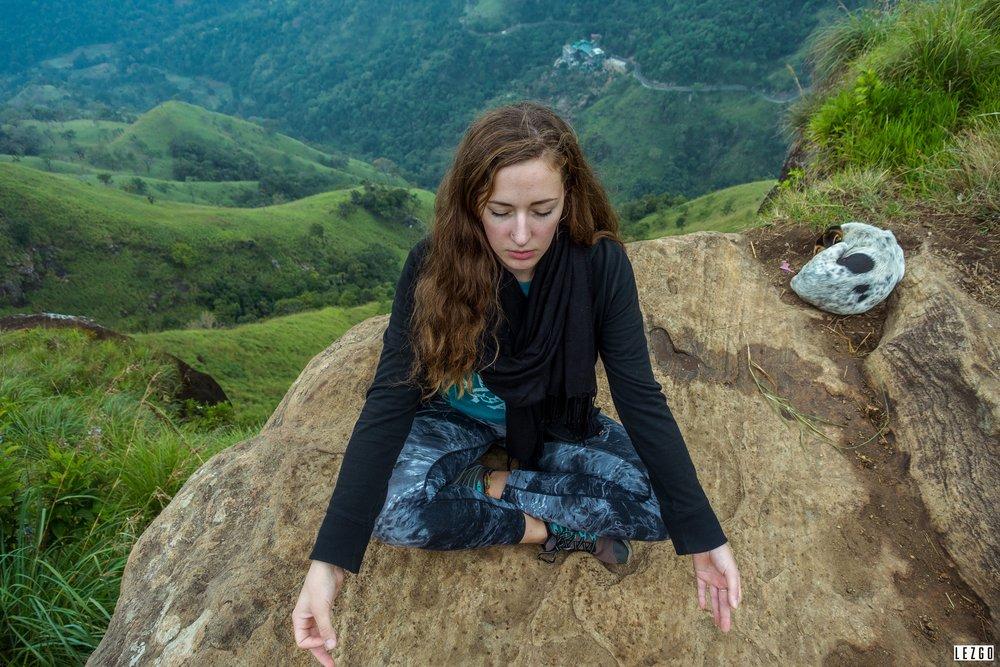 Loren meditating because why not...