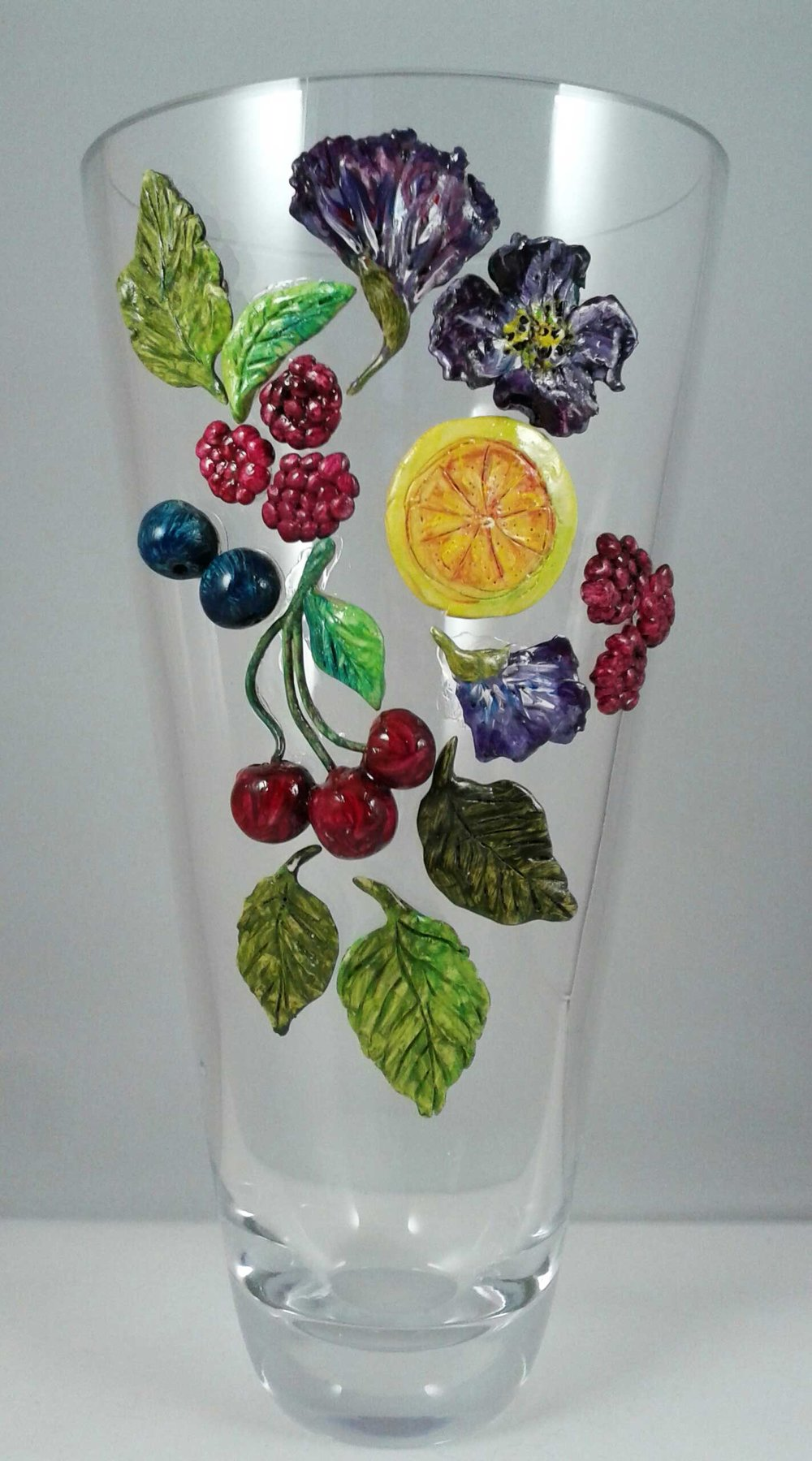 Vase with Cherries