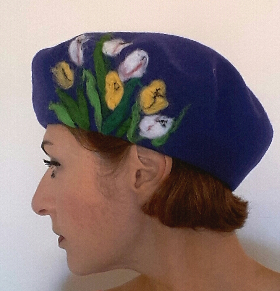 Purple beret with tulips.jpg