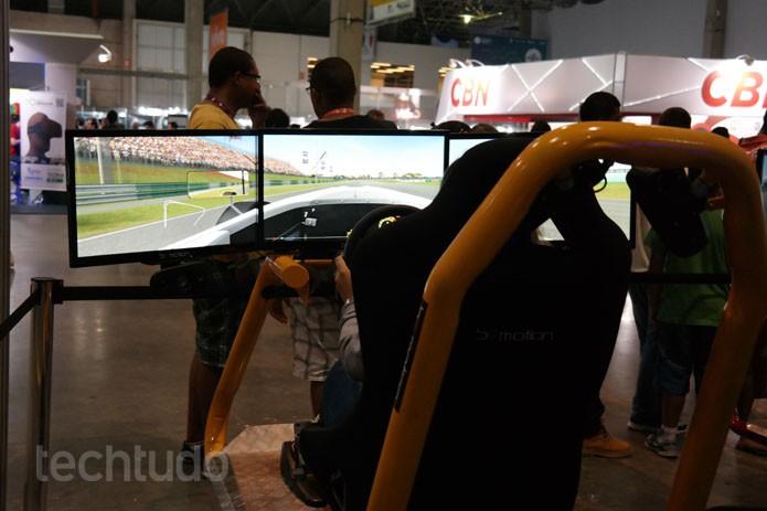 Só os tops! Os melhores simuladores da Campus Party 2015 (Foto: Melisa Cruz / TechTudo)