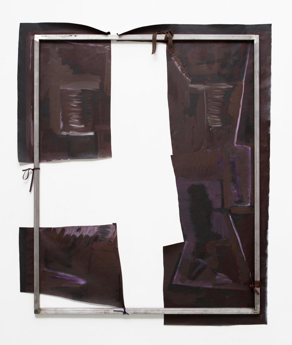 Sofía Berakha Melodrama panorama #7 105 x 85 cm Oleo sobre tela, bastidor de hierro, cintas  2016