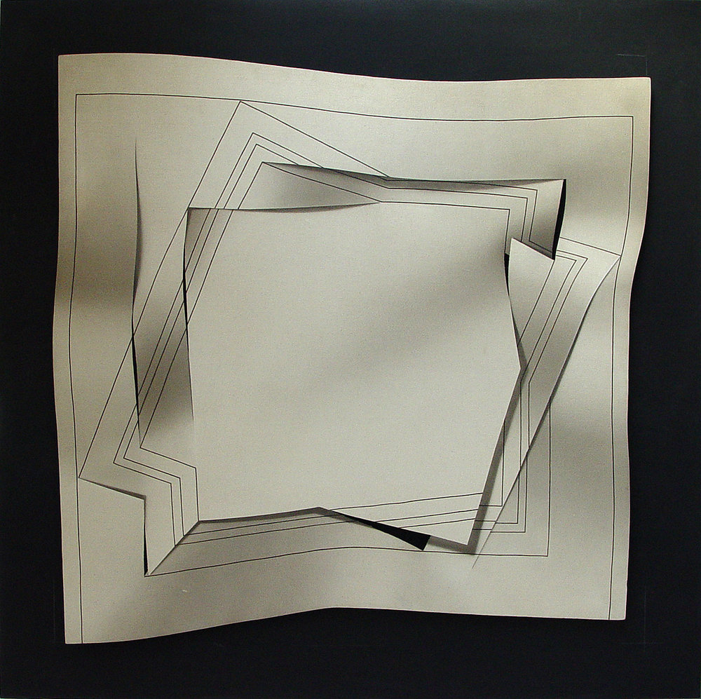 Raul Mazzoni Biespacial acrilico sobre soporte rigido entelado 120 x 120 cm 1980