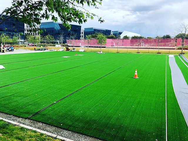 Our new D2 field coming together 😍👏👏👏 #perfectpitch @morning @playachampions