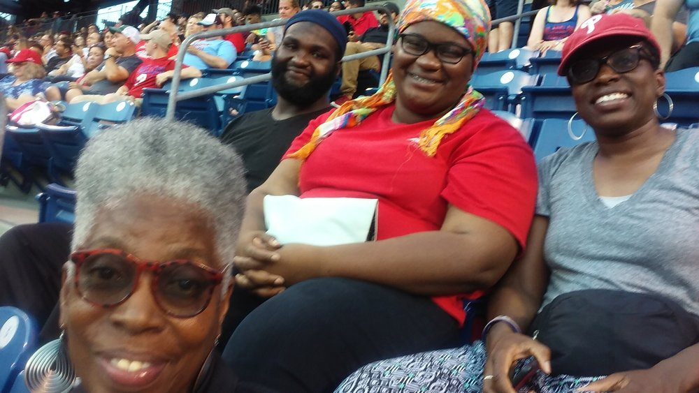 Families, partners and BWSF board members enjoy the Phillies game - The fireworks were spectacular!