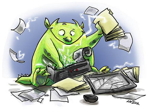 Gremlin destroying desktop
