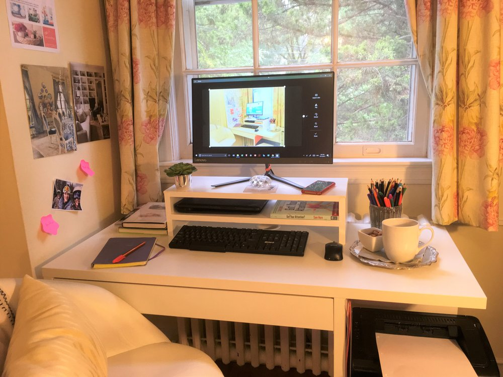 Home Office, Clean Desk, Neat Workspace