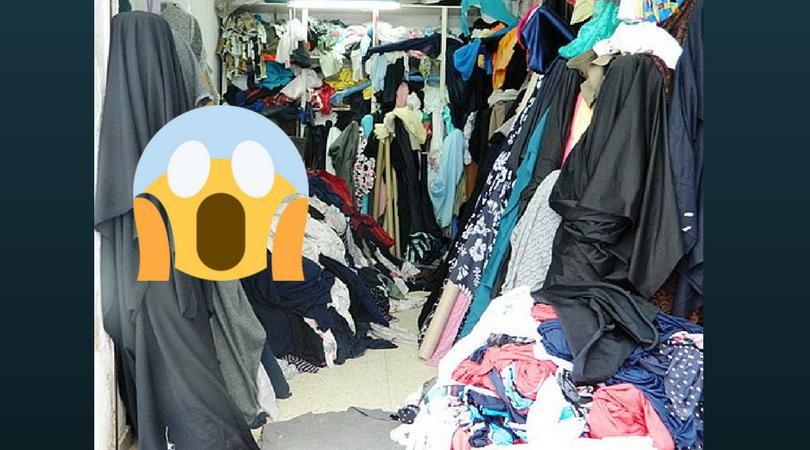 Screaming at a messy closet