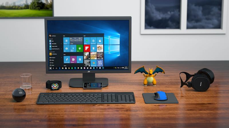 Organized desktop computer