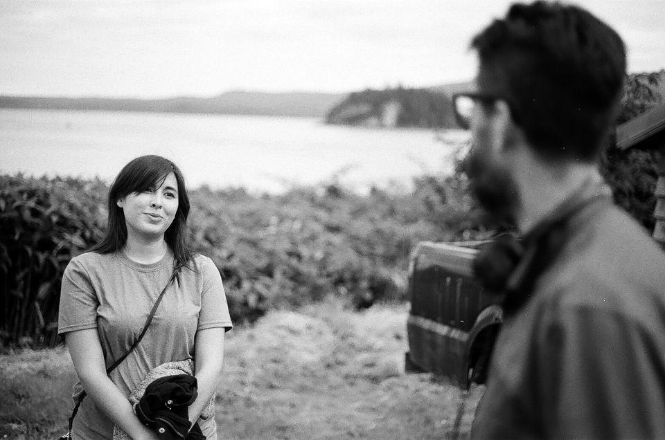 White Ravens' Raven LeBlanc speaking with director Georg Koszulinski, Skidegate, Haida Gwaii. #whiteravens