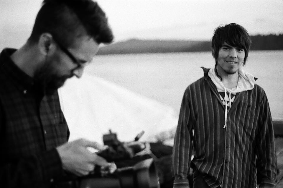 Director Georg Koszulinski and White Ravens' Towustasin Stocker filming at the docks in Masset, Haida Gwaii.#haidagwaii #firstnations
