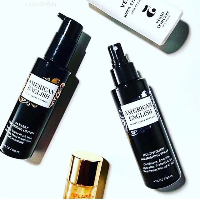 We love these bestsellers 24K Thickening Lotion and the versatile Multivitamin Spray both with 425 degrees of heat protection