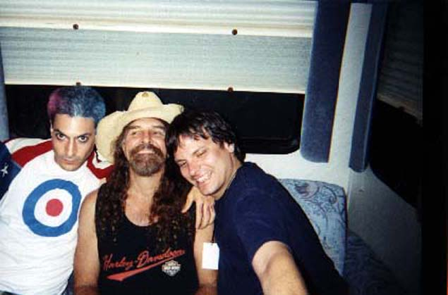 Steven Schub with The Fenwicks co-founders: Lynyrd Skynyrd's Artimus Pyle and Jimmie Corrieri.