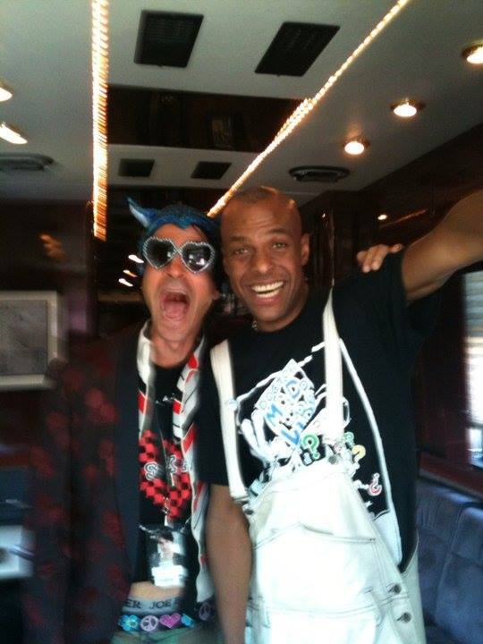 Schub with Fishbone's Angelo Moore on The Vans Warped Tour. San Diego, CA.