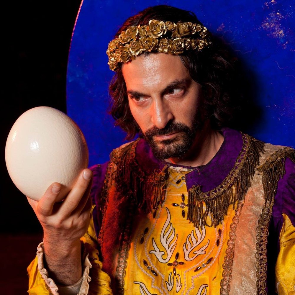 "Schub as ""King Solomon"" in ""Bride of Blood""."