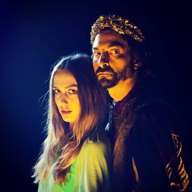 "King Solomon and his Temptress in ""Bride of Blood""."