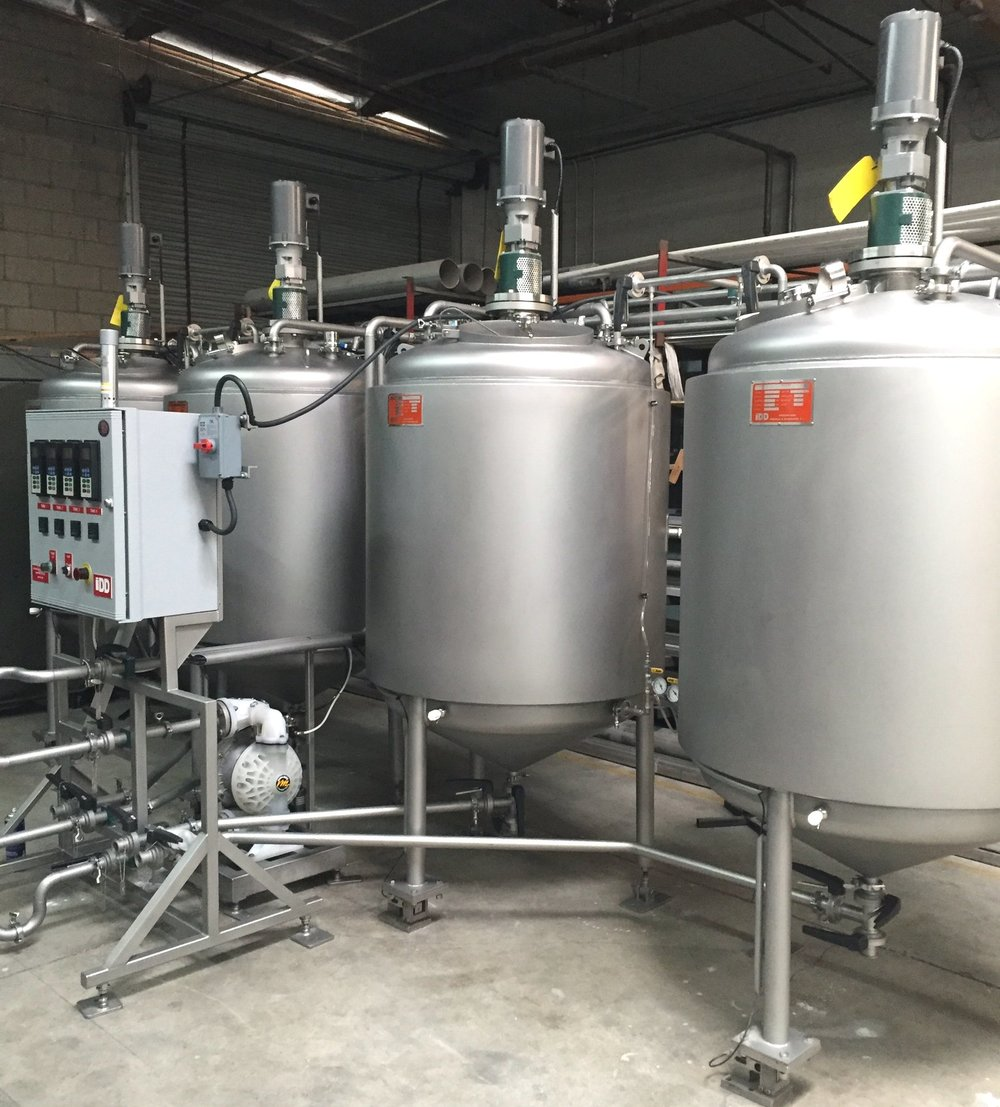 Yeast Brink Systems - Complete yeast propagation and storage systems for large breweries requiring tight pitch control.