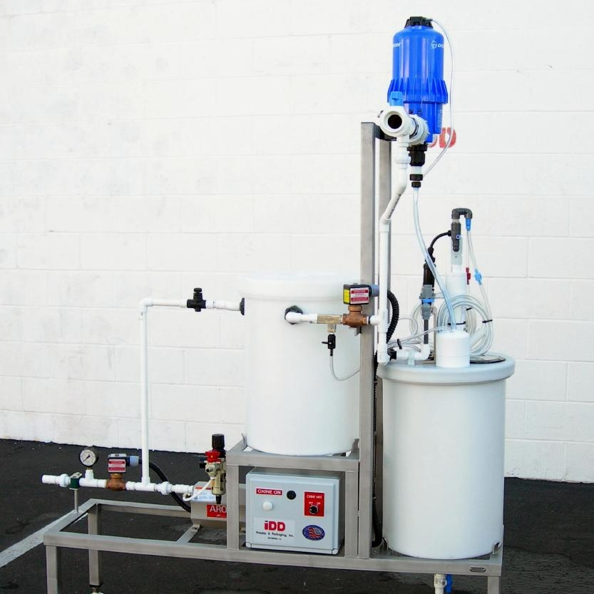 Oxine Systems - The Oxine dosing and distribution system is capable of preparing and dispensing precise concentrations of sanitize to your facility in bulk.