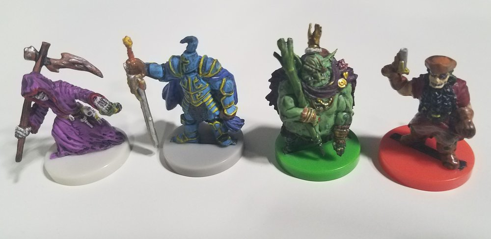 Some of the pre-prainted miniatures for the upcoming Heroes of Land, Air & Sea.
