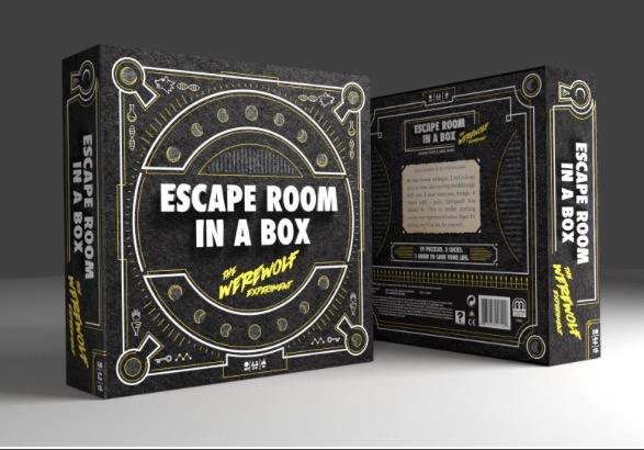 The retail version of Escape Room in a Box from Mattel.