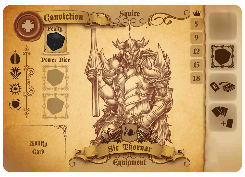 Sir Thornar knight card