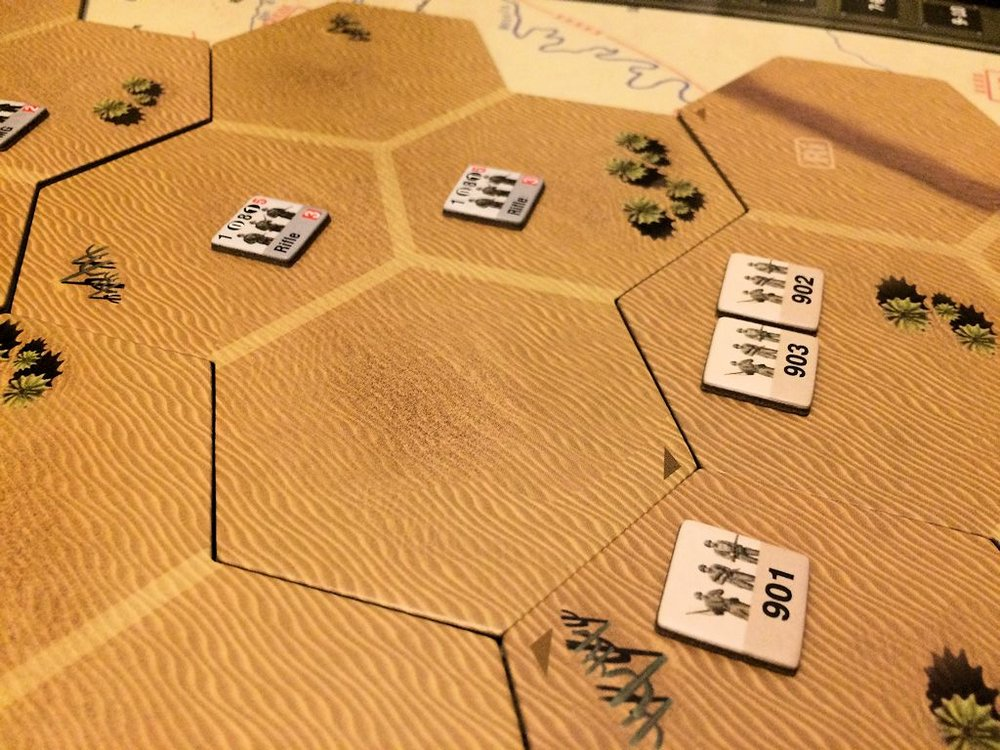 Battle across the sands of North Africa