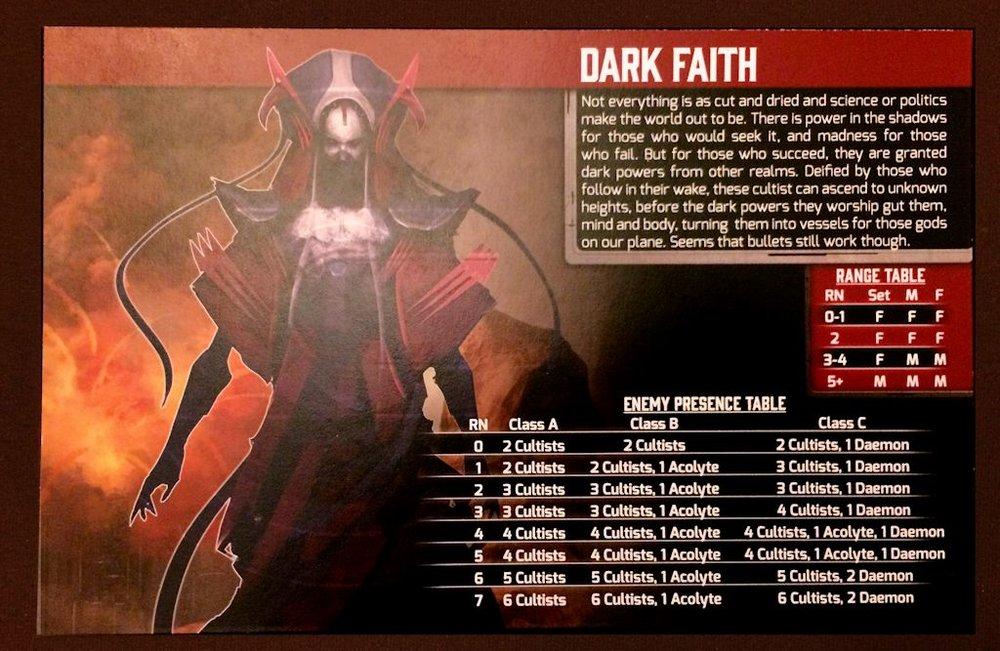 Dark Faith Enemy card