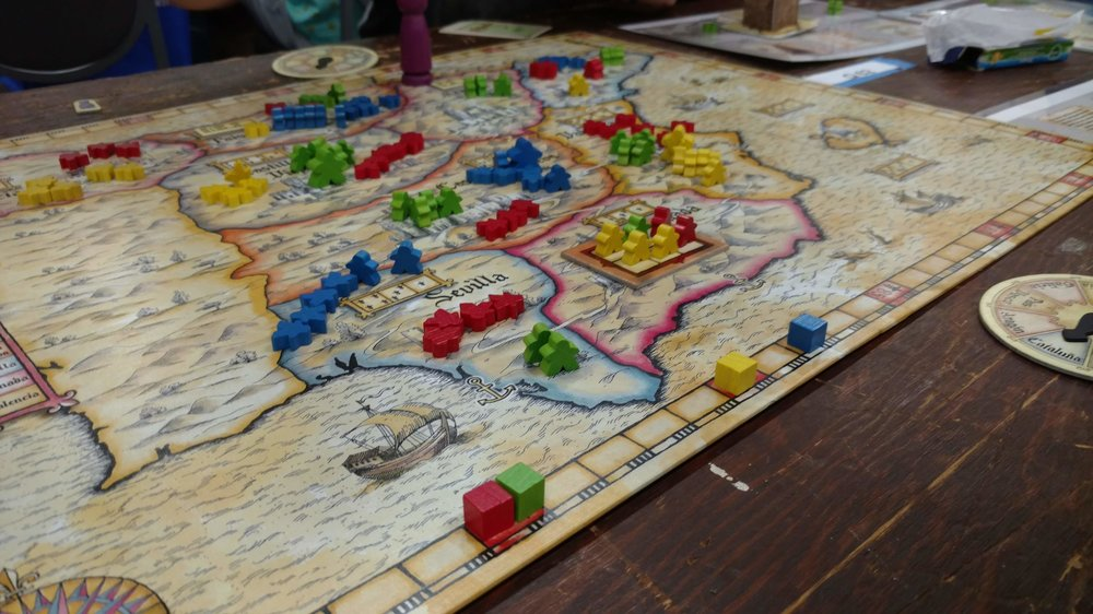 4. El Grande - Grayson, Jamie, Jose and I have started a tradition of playing this at Origins. It is always a tight game and the banter and overall good time we have is what makes this the best time ever.