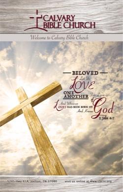 Calvary Bible Church Bulletin