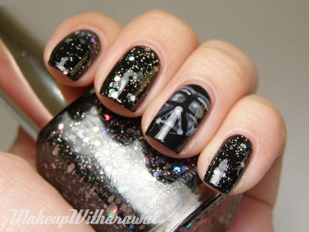 Darth Vader Galaxy Nails by Makeup Withdrawal