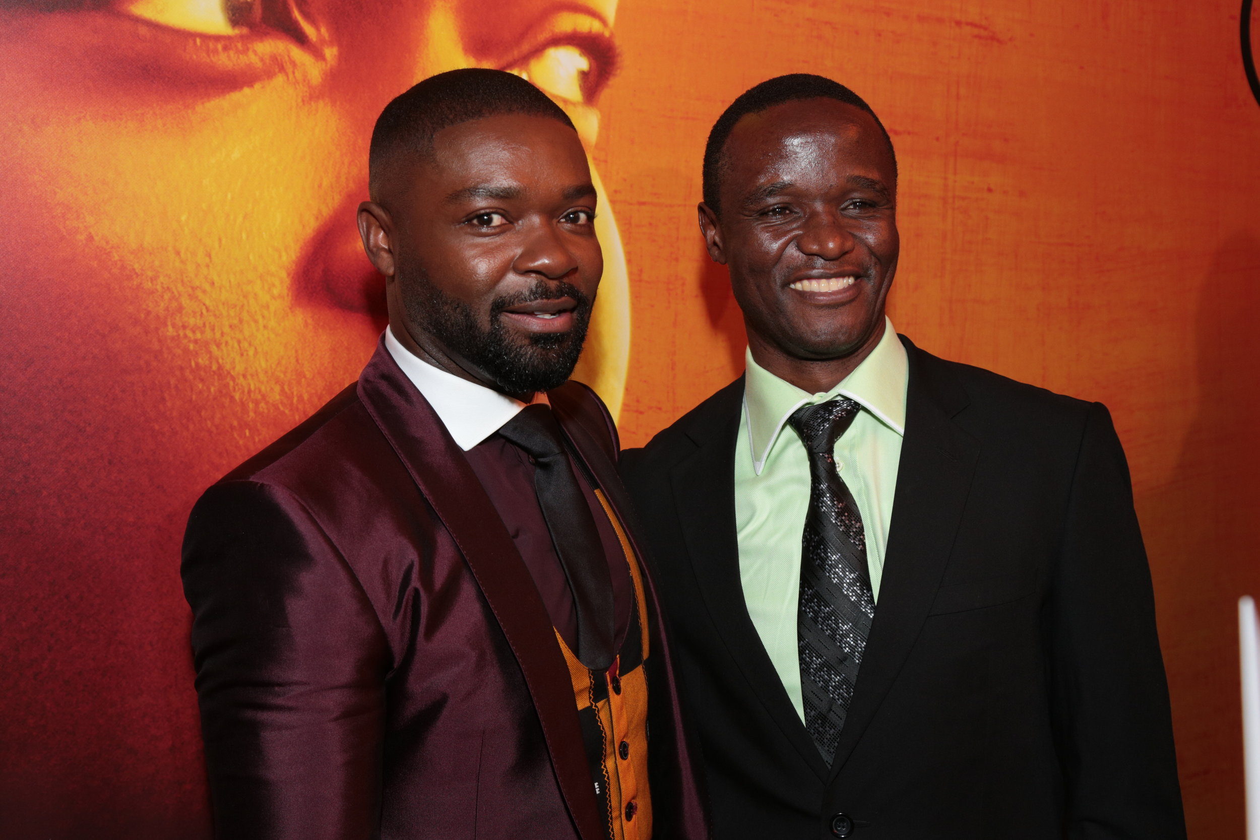 David Oyelowo and Robert Katende arrive at the U.S. premiere of Disney's Queen of Katwe at the El Capitan Theatre in Hollywood, CA on Tuesday, September 20, 2016. (Photo: Alex J. Berliner/ABImages)