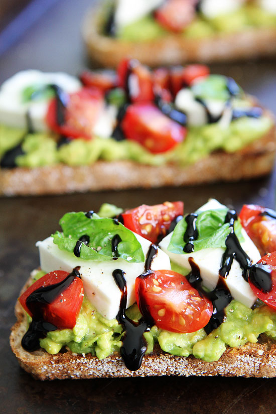 Caprese Avo Toast by Two Peas and their Pod