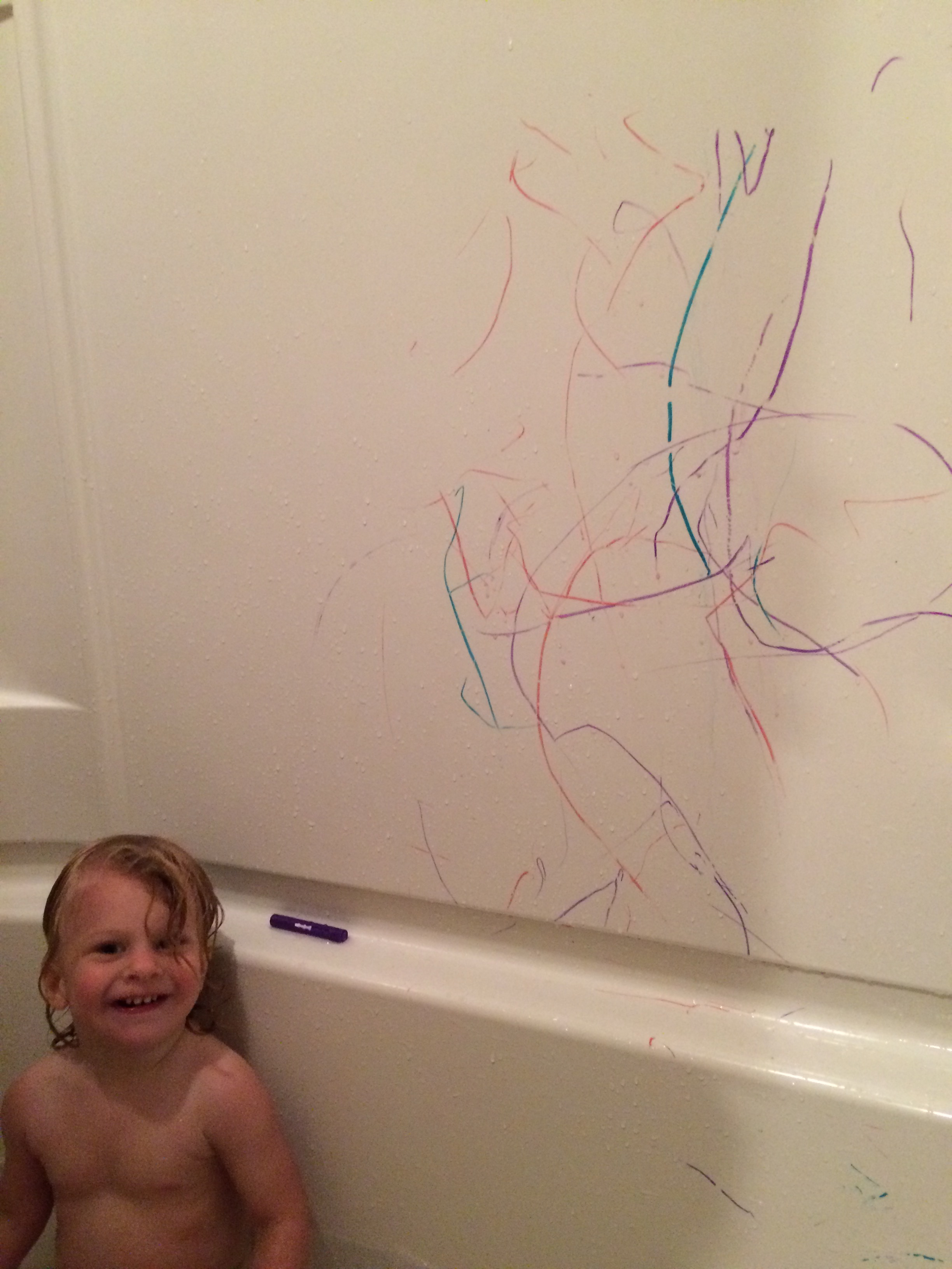 Whoever invented bath crayons is a genius!
