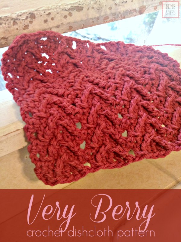 Stitches Be Cray Very Berry Crochet Dishcloth Pattern