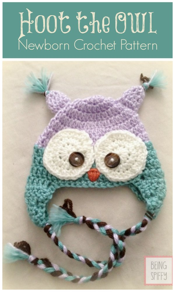 Stitches Be Cray Hoot The Owl Newborn Crochet Hat Pattern