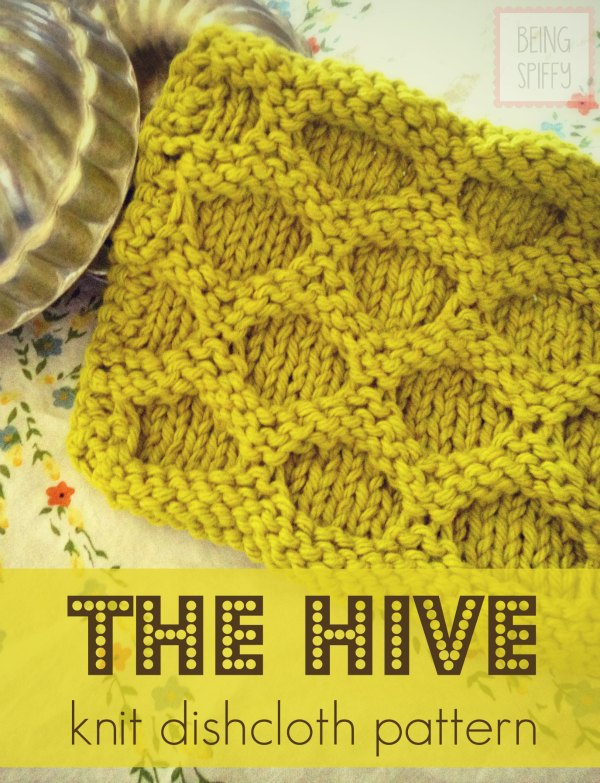 Stitches Be Cray — The Hive Knit Dishcloth Pattern