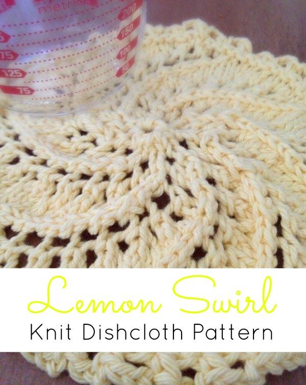 Stitches Be Cray   Lemon Swirl Knit Dishcloth Pattern