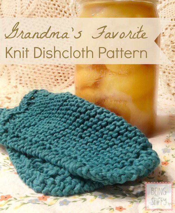 Grandma's Favorite Knit Dishcloth Pattern