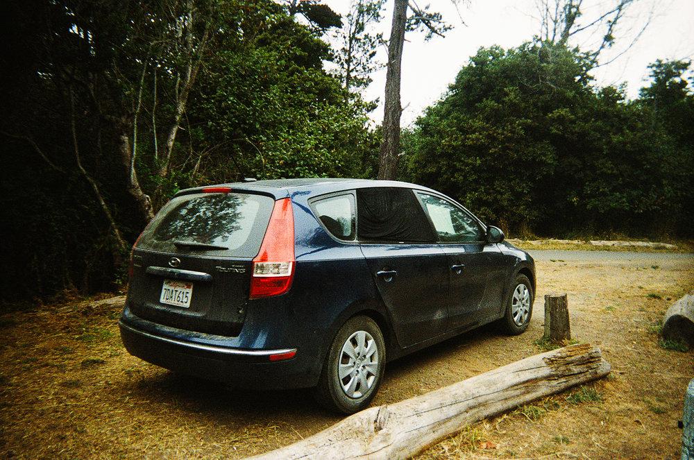 """Our ride, """"Blue"""", a 2011 Hyundai Elantra Touring"""