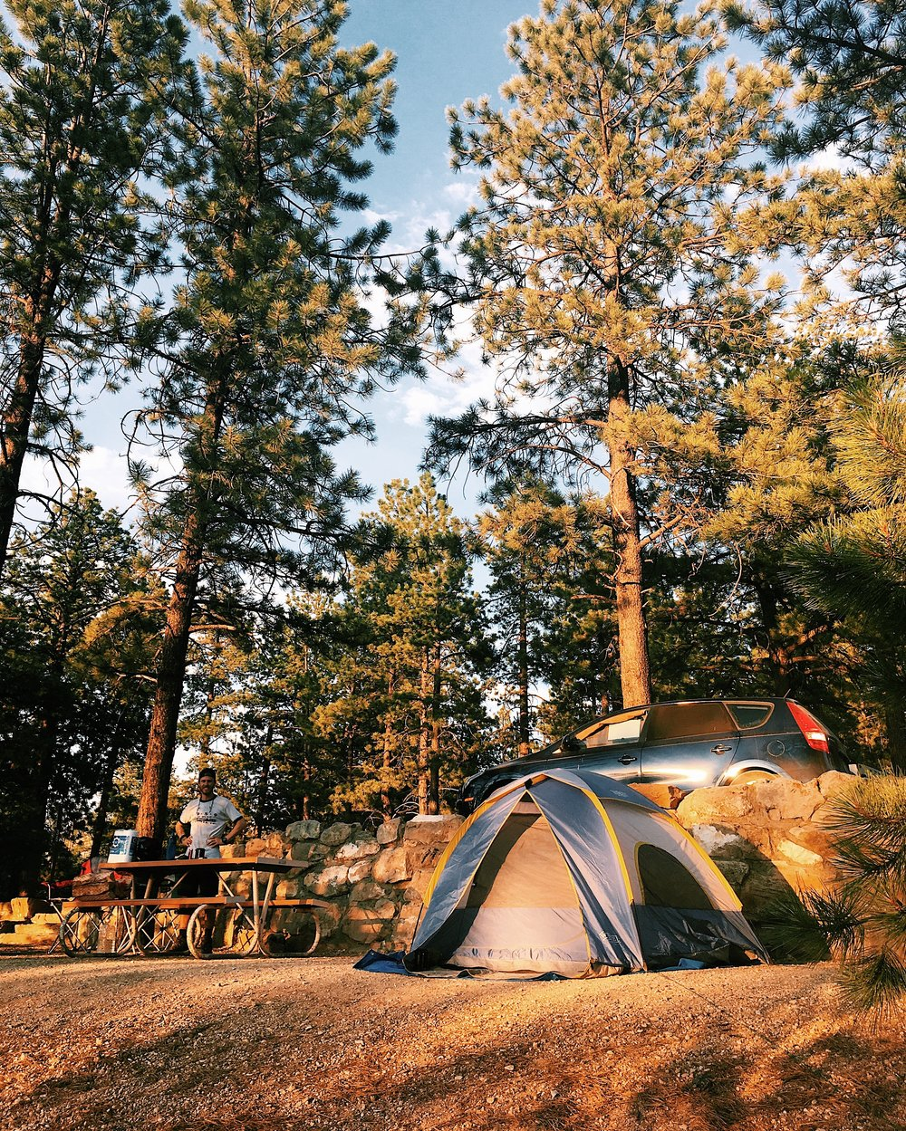 Our campsite in Bryce Canyon National Park, UT