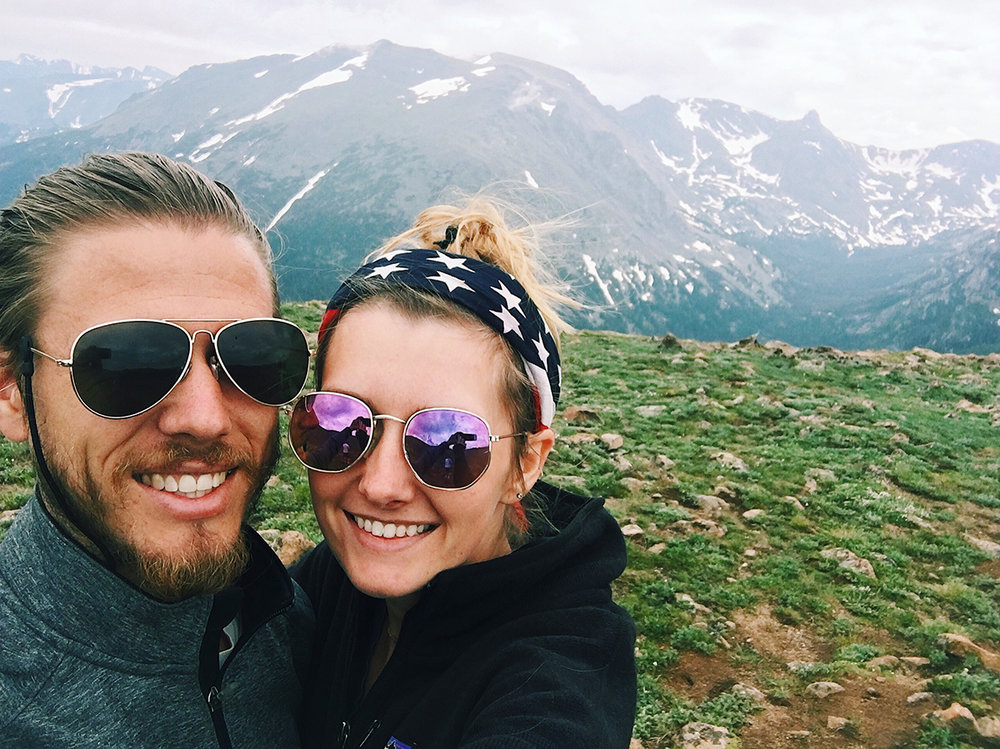 George and I in Rocky Mountain National Park, CO